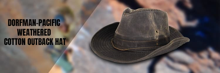 Dorfman-Pacific Weathered Cotton Outback Hat